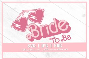 Print on Demand: 90s Bride Heart Glasses Bachelorette Graphic Illustrations By thecouturekitten