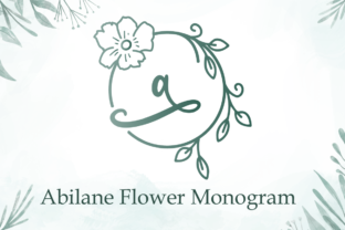 Print on Demand: Abilane Flower Monogram Decorative Font By attypestudio