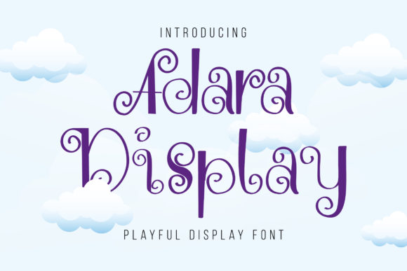 Print on Demand: Adara Decorative Font By Shakatype