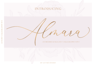 Print on Demand: Almara Script & Handwritten Font By satin.and.paper