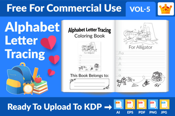 Alphabet Letter Tracing KDP Interior Graphic KDP Interiors By Md Abu Saeid