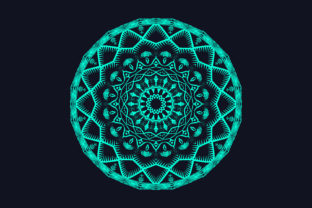 Print on Demand: Attractive Green Color Mandala Design Graphic Crafts By grgroup03