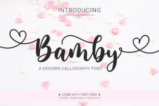 Print on Demand: Bamby Script & Handwritten Font By satin.and.paper