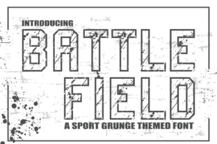 Print on Demand: Battlefield Display Font By KtwoP