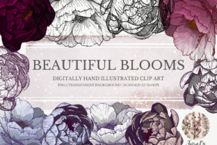 Print on Demand: Beautiful Blooms Clipart Set Grafik Illustrationen von Jessaox