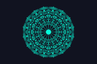 Print on Demand: Beautiful Green Mandala Background Graphic Crafts By grgroup03