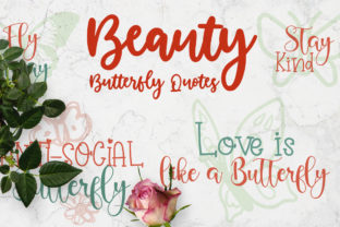 Beauty Butterfly Quotes Graphic Crafts By Firefly Designs
