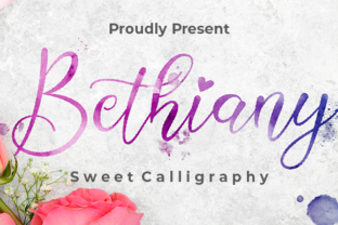 Print on Demand: Bethiany Script & Handwritten Font By Nabila Graphic