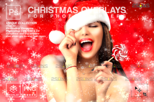 Blowing Glitter Overlays, Christmas Png Graphic Actions & Presets By 2SUNS