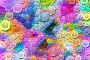 Print on Demand: Bubble Graphic Backgrounds By CahKlirong Designs
