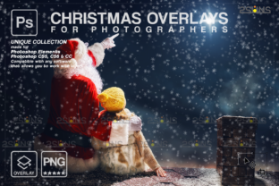 Christmas Overlay, Santa Overlay Graphic Actions & Presets By 2SUNS