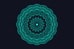 Print on Demand: Colorful Mandala Background Design Graphic Crafts By grgroup03