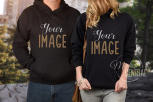 Couple Matching Black Hoodie Mockup Graphic Product Mockups By Mockup Central