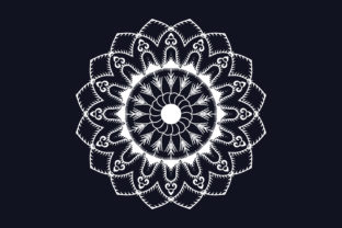 Print on Demand: Creative White Color Mandala Design Graphic Crafts By grgroup03