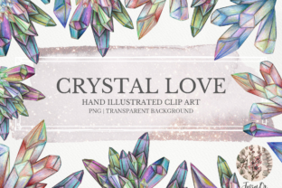 Print on Demand: Crystal Love Clipart Set Graphic Illustrations By Jessaox