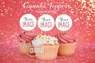 Cupcake Toppers Party Mockup Graphic Product Mockups By Mockup Central
