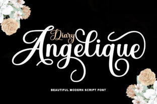 Print on Demand: Diary Angelique Script & Handwritten Font By rotterlabstudio