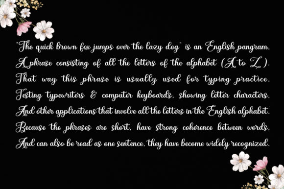 Diary Angelique Font Image