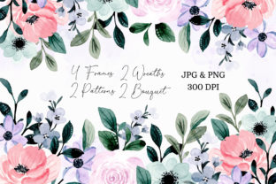 Print on Demand: Digital Clipart Floral Watercolor Part22 Graphic Illustrations By asrulaqroni