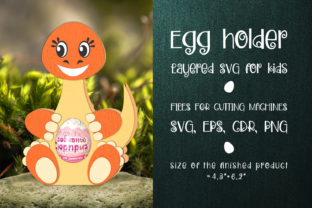 Print on Demand: Diplodocus - Chocolate Egg Holder SVG Graphic 3D SVG By Olga Belova