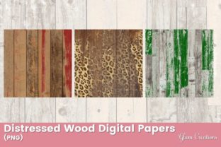 Distressed Wood Digital Papers Grafik Muster von Glam Creations