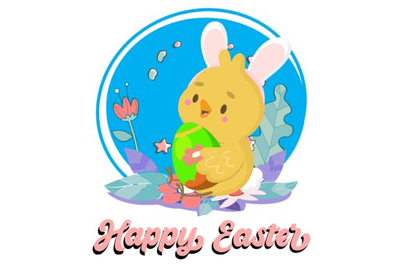 Easter Bunny Chickens Graphic Illustrations By garnetastudio