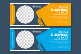 Facebook Cover Blue and Orange Template Graphic Websites By Designstore136