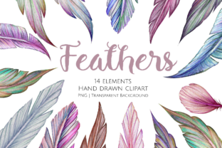 Print on Demand: Feathers Clipart Set Graphic Illustrations By Jessaox
