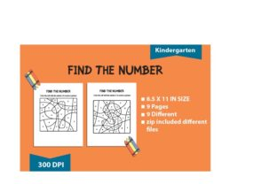 Print on Demand: Find the Number : Kindergarten Graphic Teaching Materials By BoxxNeed