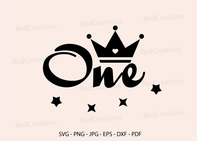 baby girl birthday one year old design with crown for cameo and cricut svg dxf Wild One svg- first birthday svg file png eps