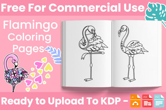 Print on Demand: Flamingo Coloring Book for Kids - KDP Graphic Coloring Pages & Books Kids By Trend Color