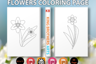 Print on Demand: Flowers Coloring Book for Kids - 4 Graphic Coloring Pages & Books Kids By Sei Graph Arts
