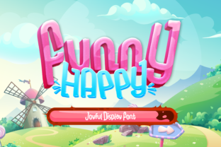 Print on Demand: Funny Happy Display Font By ovoz.graphics