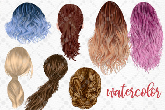 Hairstyles Clipart Ombre Hairstyles Graphic Download