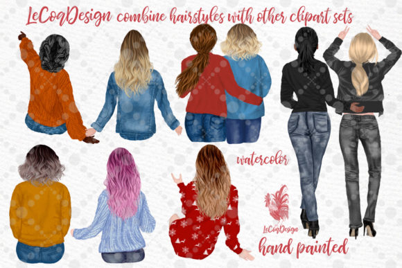Hairstyles Clipart Ombre Hairstyles Graphic Item
