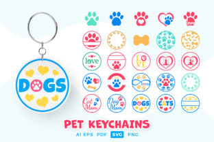 Print on Demand: Keychain SVG Pet Designs Graphic Crafts By DTCreativeLab