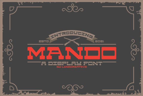 Print on Demand: Mando Slab Serif Font By Line creative