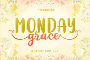 Print on Demand: Monday Grace Script & Handwritten Font By deedeetype