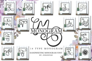 Print on Demand: Monogram Script & Handwritten Font By jehansyah251