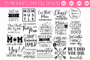 Print on Demand: Mother's Day Momlife Mom SVG Bundle Graphic Crafts By freelingdesignhouse