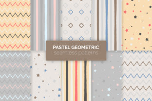 Pastel Geometric Seamless Patterns Graphic Patterns By 3Y_Design 1