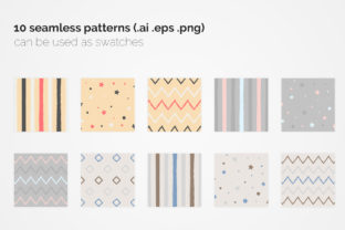 Pastel Geometric Seamless Patterns Graphic Patterns By 3Y_Design 5