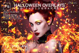 Photoshop Fire Overlay, Burn, Halloween Graphic Actions & Presets By 2SUNS