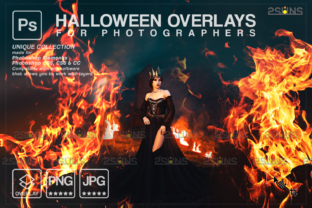 Photoshop Fire Overlay Halloween Graphic Actions & Presets By 2SUNS