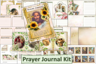 Print on Demand: Printable Prayer Journal Kit Graphic Crafts By The Paper Princess