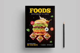 Restaurant Burger Foods Flyer Template Graphic Print Templates By Design_Stocks