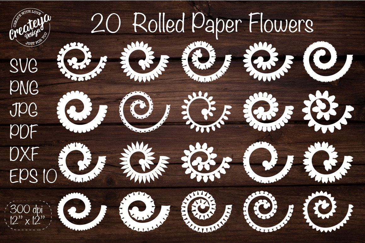 Rolled Flowers. Rolled Flowers Svg SVG File