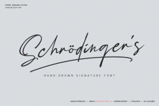 Print on Demand: Schrödinger's Script & Handwritten Font By bluetype