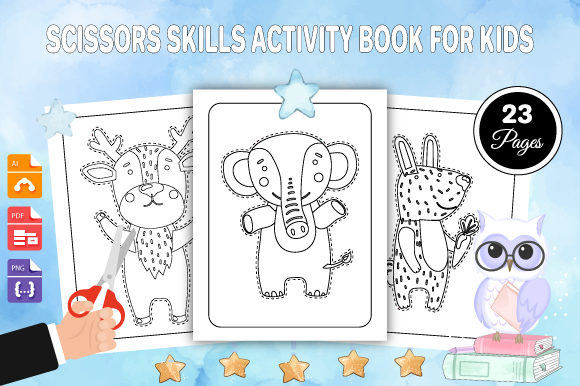 Print on Demand: Scissors Skills Activity Book for Kids Graphic Coloring Pages & Books Kids By Trend Color