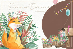 Print on Demand: Set of Illustrations of Foxes Graphic Illustrations By laffresco04